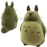 KADOUNIK Studio Ghibli My Neighbor Big Totoro Flocking Doll [186-589531] - Boneka Kain