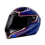 KBC Helm Full Face V Euro Size XL - Blue Red - Helm Motor Full Face