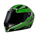 KBC Helm Full Face V Euro Size S - Green Black - Helm Motor Full Face