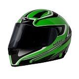 KBC Helm Full Face V Euro Size M - Green Black - Helm Motor Full Face
