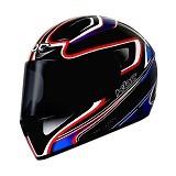 KBC Helm Full Face V Euro Size M - Black Blue Red - Helm Motor Full Face