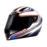 KBC Helm Full Face V Euro Size S - White Blue Red - Helm Motor Full Face