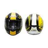 KBC Helm Full Face V Zero Size S - Black Yellow - Helm Motor Full Face