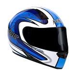 KBC Helm Full Face V Zero Size XL - White Blue - Helm Motor Full Face