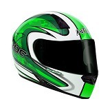 KBC Helm Full Face V Zero Size S - White Green - Helm Motor Full Face