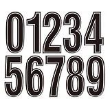 KEITI Stiker 3D Number [KT6050] - Aksesori Modifikasi Motor