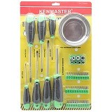 KENMASTER Tool Set Screwdriver 34 Buah [KM-120007] (Merchant) - Obeng Set