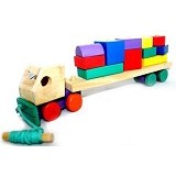 KIDZNTOYS Truk Kontainer - Wooden Toy