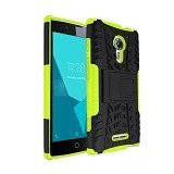 KIN Case Rugged Armor With KickStand For Alcatel Flash 2 - Green - Casing Handphone / Case