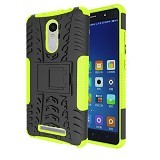 KIN Case Rugged Armor With KickStand For Xiaomi Redmi Note 3 - Green - Casing Handphone / Case