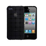 KIN Cube Ultra Thin Soft Case For Apple iPhone 4 4S - Black - Casing Handphone / Case