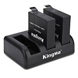 KINGMA Triple Charger + 2 Battery For Action Camera Xiaomi Yi 4K (Merchant) - Camcorder Power Adapter and Charger