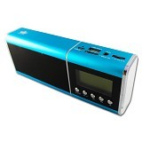 KINGONE Speaker Bluetooth Super Bass  dengan TF Card Slot dan FM Radio [H3 ] - Blue - Speaker Portable