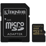 KINGSTON MicroSDHC 16GB Class 10 [SDCA10/16GB] - Micro Secure Digital / Micro Sd Card