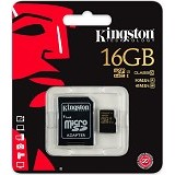 KINGSTON MicroSDHC 16GB Class 10 [SDCA10/16GB] (Merchant) - Micro Secure Digital / Micro SD Card