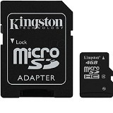 KINGSTON MicroSDHC 4GB Class 4 [SDC4/4GBFE] (Merchant) - Micro Secure Digital / Micro Sd Card