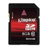 KINGSTON SDHC 8GB Class 10 [SD10/8GB] (Merchant) - Secure Digital / Sd Card