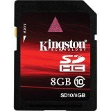 KINGSTON SDHC 8GB Class 10 [SD10/8GB] - Secure Digital / Sd Card