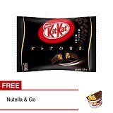 KITKAT Bag Dark Chocolate + Free Nutella & Go - Biskuit & Waffer