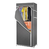 KLIK BUY Simple Cloth Rack - Grey (Merchant) - Container