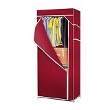 KLIK BUY Simple Cloth Rack - Maroon (Merchant)