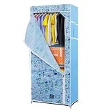 KLIK BUY Wardrobe Rack Single - Blue (Merchant) - Lemari Pakaian