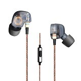 KNOWLEDGE ZENITH Copper Driver In-Ear Sports Earphones 3.5mm [KZ-ATE] - Black - Earphone Ear Monitor / Iem