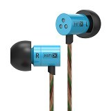 KNOWLEDGE ZENITH InEar Earphones Dynamic Driver 8.6mm Dengan Microphone [KZHDS1] - Blue - Earphone Ear Monitor / Iem