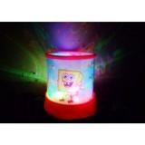 KOBUCCA SHOP Lampu Proyektor Putar Musik Karakter Spongebob - Lampu Meja