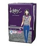 KOTEX Soft & Smooth Overnight Wing 28cm 14Pcs - Pembalut Wanita