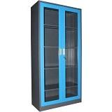 KOZURE Filling Cabinet Glass With Swing Door KF-03G - Mid Grey