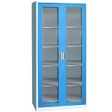 KOZURE Filling Cabinet Glass With Swing Door KF-03G - Blue