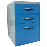 KOZURE Small Cabinet Caster with 3 Drawers [KL-3DW] - Blue - Filing Cabinet / Lemari Arsip