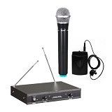 KREZT Microphone Wireless Handheld + Lavalier [DTD37-HL] - Microphone Live Vocal