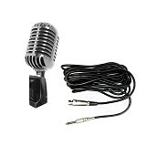 KREZT Retro Microphone [K45-CLS] - Metal Chrome Silver - Microphone Live Vocal