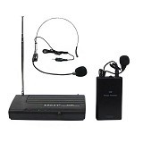 KREZT Single Wireless microphone Headset + Clip On [2380 HTL] - Microphone System