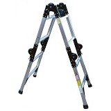 KRISBOW Ladder Adjustable 4 Mtr 4x4 Alumunium [KW0100606] - Tangga