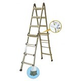 KRISBOW Ladder Multi Purpose 3.9 Meter 4x4 ALU [KW0103864] - Tangga