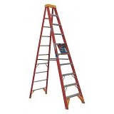 KRISBOW Ladder Step 12 Ft/3.6 Meter Fiber [KW0102179] - Orange - Tangga
