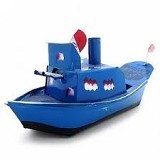 KUNOJADOEL Mainan Kapal Othok Othok - Blue (Merchant) - Sand and Water Toys
