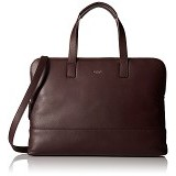 Knomo Reeves Slim Briefcase Leather 14 Inch 20-102 - Espresso