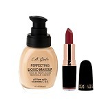 L.A. GIRL Perfecting Liquid Makeup Nude + Makeup Revolution Iconic Pro Matte Duel (Merchant) - Face Foundation