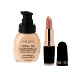 L.A. GIRL Perfecting Liquid Makeup Nude + Makeup Revolution Iconic Pro Matte Game Of Mystery (Merchant) - Face Foundation