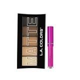 LA SPLASH LA Colors Matte Eyeshadow Brown Tweed+ LASplash Smitten Lip Tint Enchanted (Merchant) - Lipstick