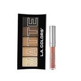 LA SPLASH LA Colors Matte Eyeshadow Brown Tweed+ LASplash Studio Shine Lip Lustre Nala (Merchant) - Lipstick