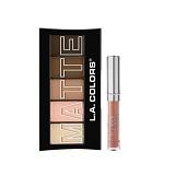 LA SPLASH LA Colors Matte Eyeshadow Tan Khaki+ LASplash Studio Shine Lip Lustre Nala (Merchant) - Lipstick