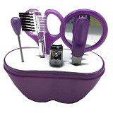 LACARLA Ai Mi Ni Beauty Tool Set 6 in 1 - Purple - Perawatan Tangan dan Kuku