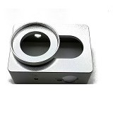 LACARLA Alumunium Case Xiaomi Yi Camera - Silver - Camcorder Lens Cap and Housing Protection