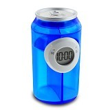 LACARLA Digital Water Power Clock Canned Drink Bottle [ ST-1005-J] - Blue - Jam Meja