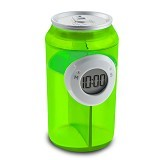 LACARLA Digital Water Power Clock Canned Drink Bottle [ ST-1005-J] - Green - Jam Meja